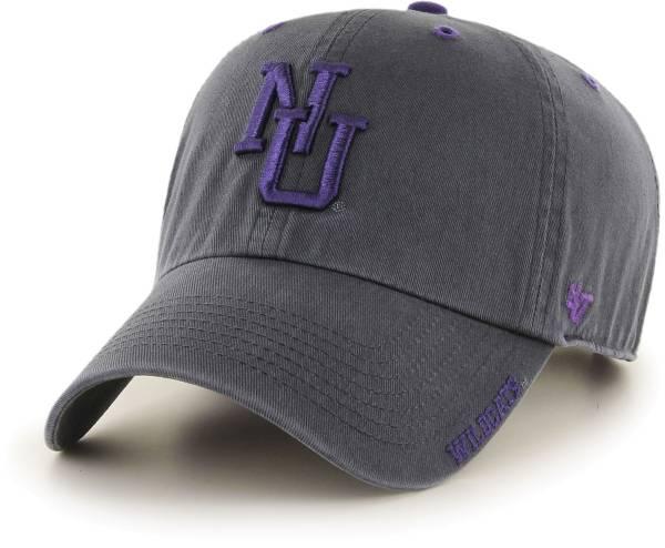 '47 Men's Northwestern Wildcats Grey Ice Clean Up Adjustable Hat product image