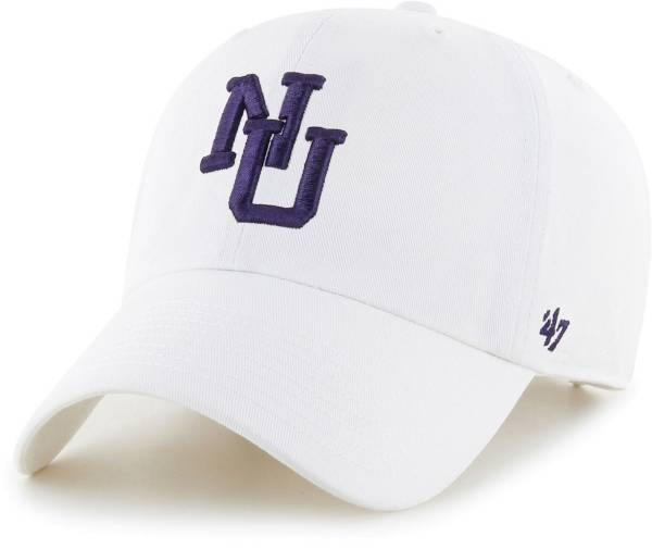 '47 Men's Northwestern Wildcats Clean Up Adjustable White Hat product image