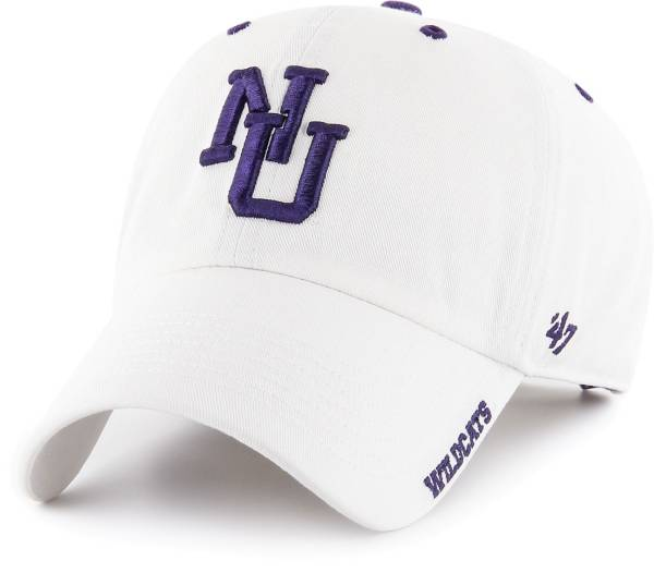 '47 Men's Northwestern Wildcats Ice Clean Up Adjustable White Hat product image