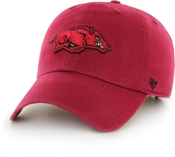 '47 Men's Arkansas Razorbacks Cardinal Clean Up Adjustable Hat product image