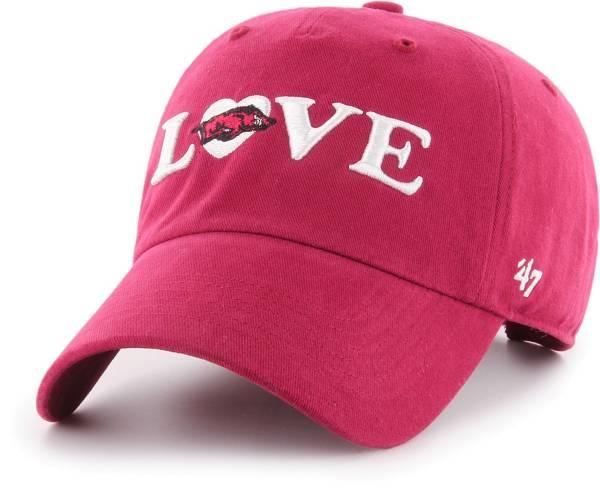 '47 Women's Arkansas Razorbacks Cardinal Love Script Clean Up Adjustable Hat product image