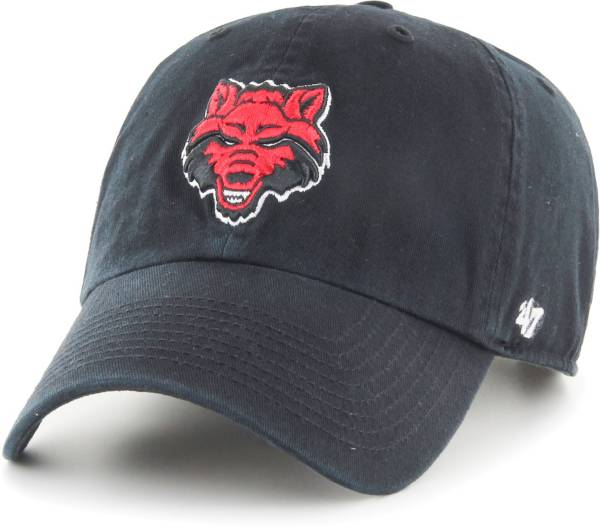 '47 Men's Arkansas State Red Wolves Clean Up Adjustable Black Hat product image