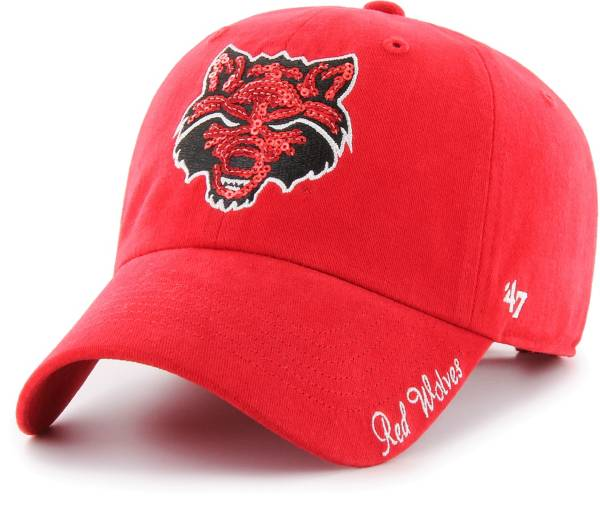 '47 Women's Arkansas State Red Wolves Scarlet Sparkle Clean Up Adjustable Hat product image