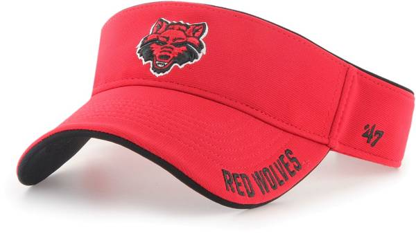 '47 Men's Arkansas State Red Wolves Scarlet Top Rope Adjustable Visor product image