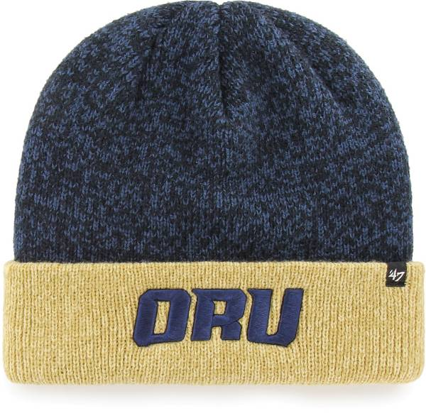 '47 Men's Oral Roberts Golden Eagles Navy Blue Marl Two Tone Cuffed Knit Beanie product image