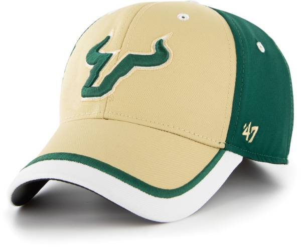 '47 Men's USF Bulls Green Crash Line Contender Fitted Hat product image