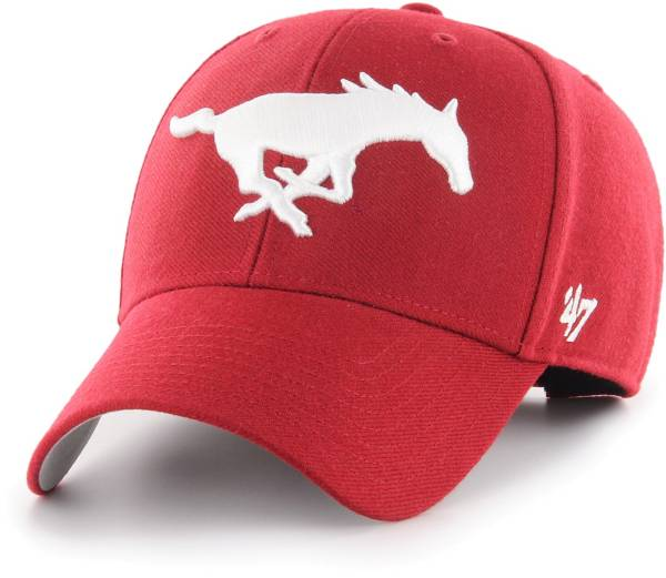 '47 Men's Southern Methodist Mustangs Red MVP Adjustable Hat product image