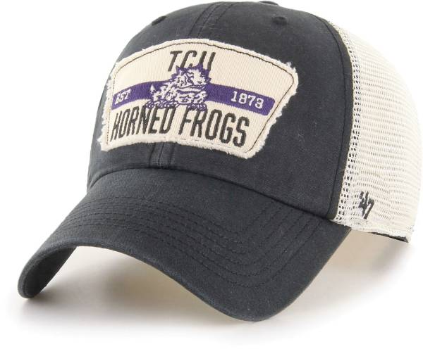 '47 Men's TCU Horned Frogs Crawford Clean Up Adjustable Black Hat product image