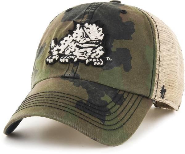 '47 Men's TCU Horned Frogs Camo Burnett Clean Up Adjustable Hat product image