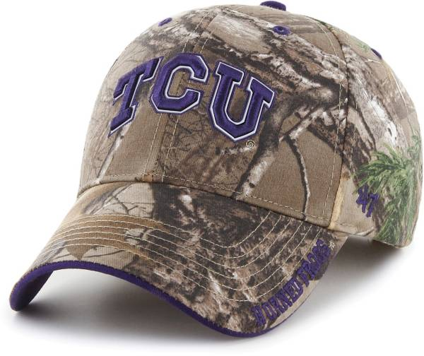 '47 Men's TCU Horned Frogs Camo Realtree Frost MVP Adjustable Hat product image