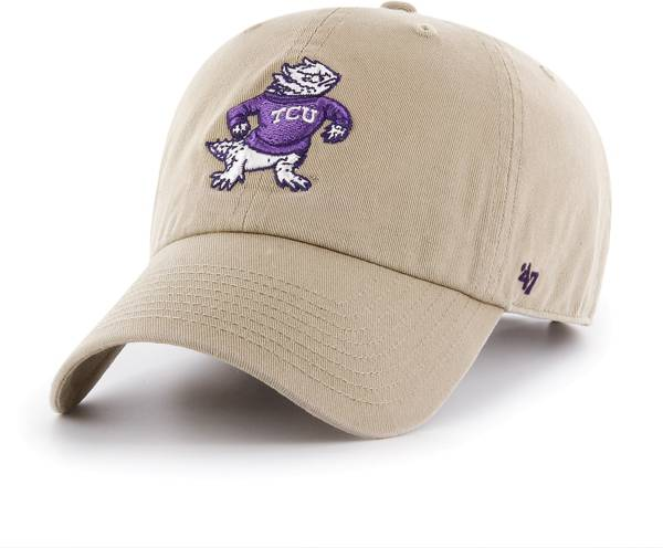 '47 Men's TCU Horned Frogs Khaki Clean Up Adjustable Hat product image