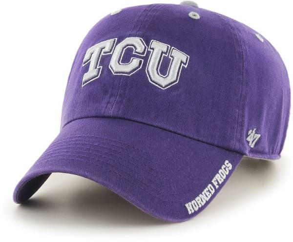 '47 Men's TCU Horned Frogs Purple Ice Clean Up Adjustable Hat product image