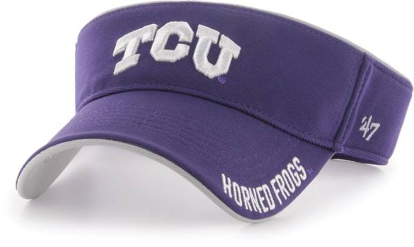 '47 Men's TCU Horned Frogs Purple Top Rope Adjustable Visor product image