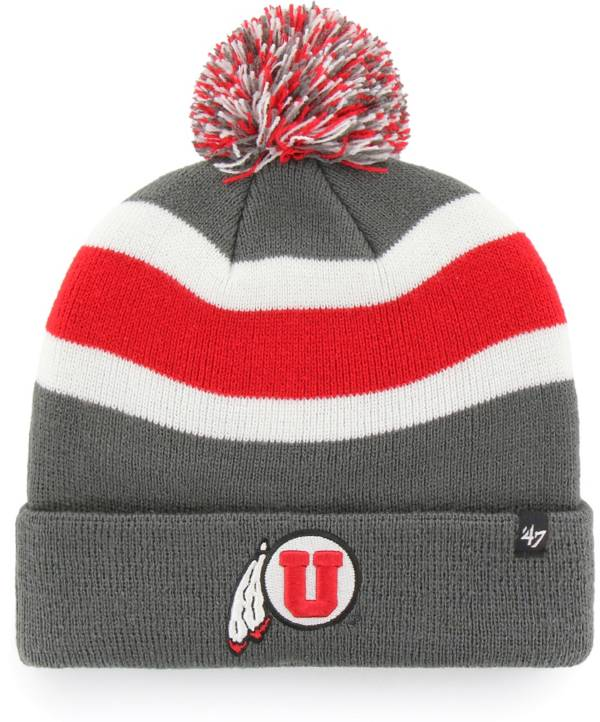'47 Men's Utah Utes Grey Breakaway Cuffed Knit Hat product image