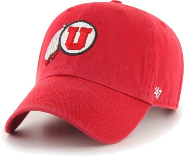 '47 Men's Utah Utes Crimson Clean Up Adjustable Hat product image
