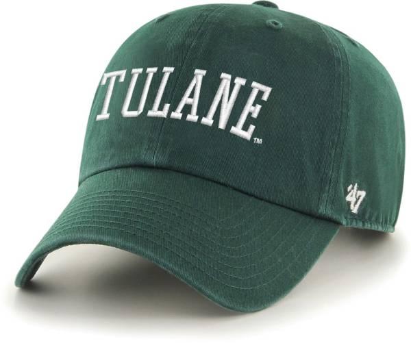 '47 Men's Tulane Green Wave Olive Script Clean Up Adjustable Hat product image