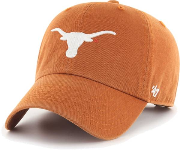 '47 Men's Texas Longhorns Orange Clean Up Adjustable Hat product image