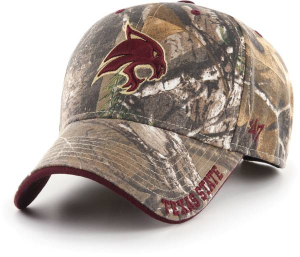 '47 Men's Texas State Bobcats Camo Realtree Frost MVP Adjustable Hat product image