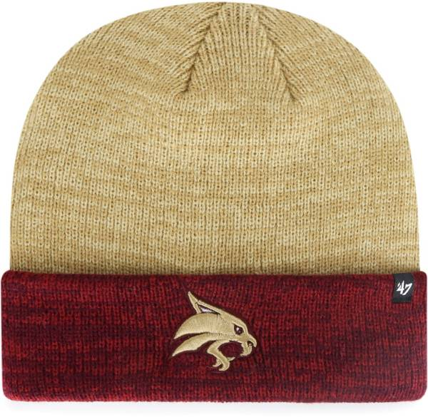 '47 Men's Texas State Bobcats Gold Marl Two Tone Cuffed Knit Beanie product image