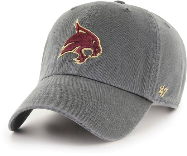 '47 Men's Texas State Bobcats Grey Clean Up Adjustable Hat product image