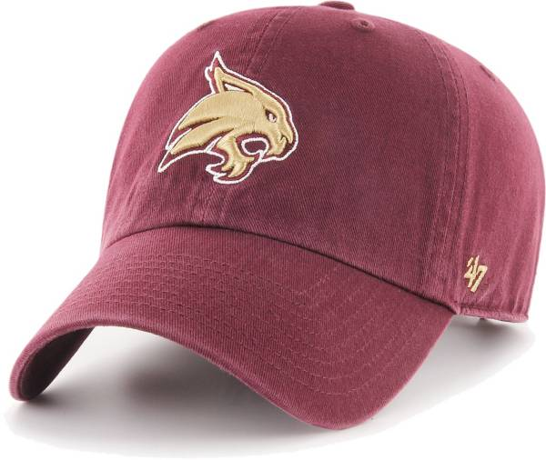 '47 Men's Texas State Bobcats Maroon Clean Up Adjustable Hat product image
