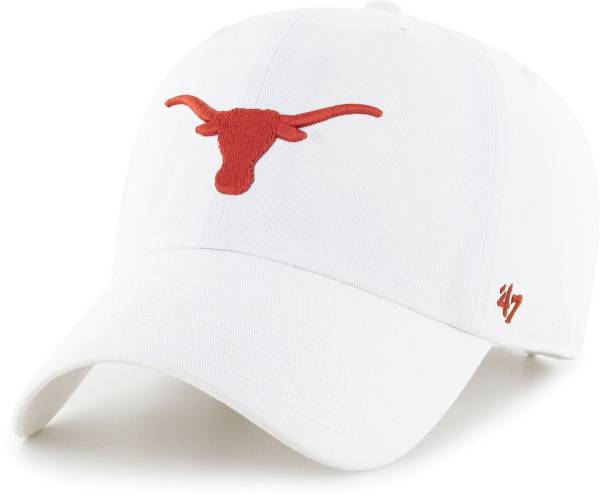'47 Men's Texas Longhorns White Clean Up Adjustable Hat product image