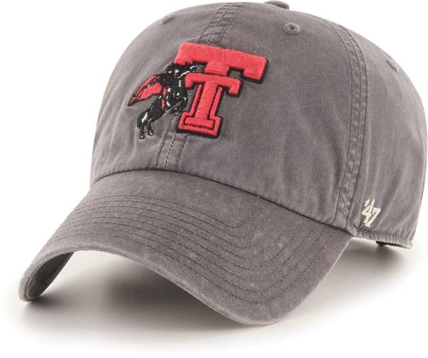 '47 Men's Texas Tech Red Raiders Hudson Clean Up Adjustable Black Hat product image