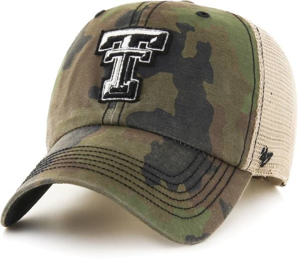 '47 Men's Texas Tech Red Raiders Camo Burnett Clean Up Adjustable Hat product image