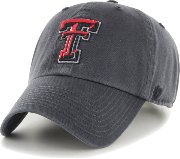 '47 Men's Texas Tech Red Raiders Grey Clean Up Adjustable Hat product image