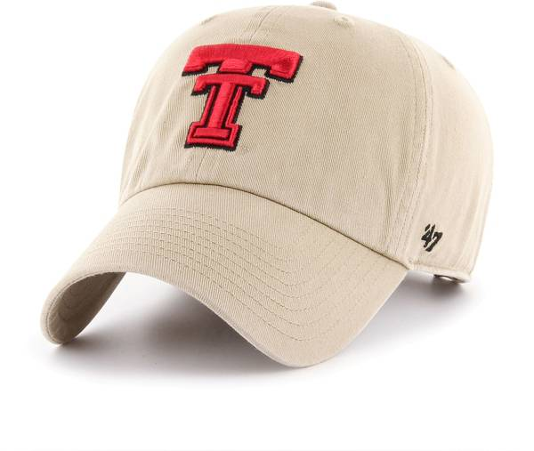'47 Men's Texas Tech Red Raiders Khaki Clean Up Adjustable Hat product image