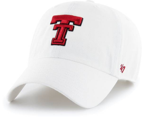 '47 Men's Texas Tech Red Raiders Clean Up Adjustable White Hat product image