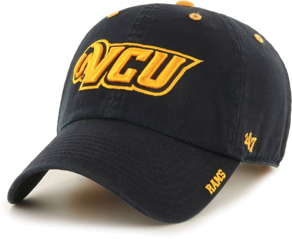 '47 Men's VCU Rams Ice Clean Up Adjustable Black Hat product image