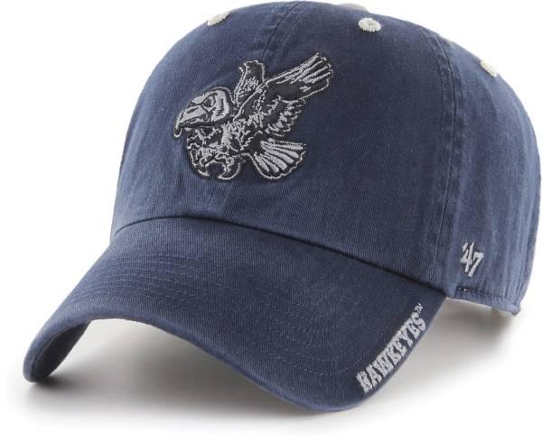 '47 Men's Iowa Hawkeyes Ice Clean Up Adjustable Black Hat product image