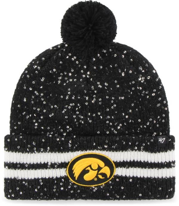 '47 Women's Iowa Hawkeyes Amelia Cuffed Knit Black Hat product image
