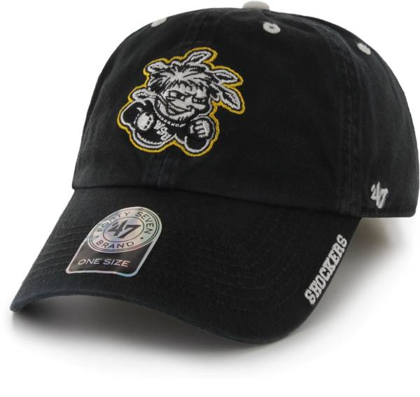 '47 Men's Wichita State Shockers Ice Clean Up Adjustable Black Hat product image