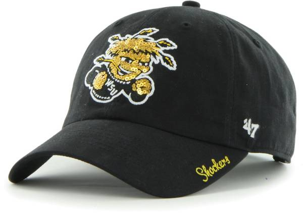 '47 Women's Wichita State Shockers Sparkle Clean Up Adjustable Black Hat product image