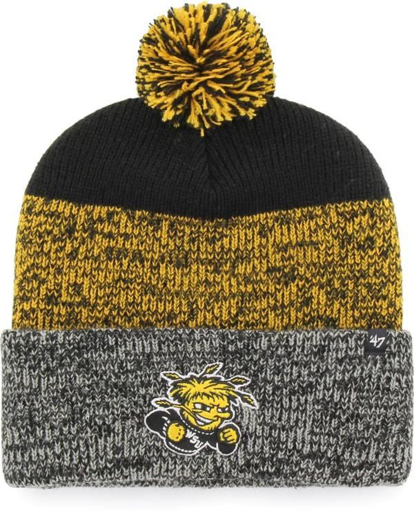 '47 Men's Wichita State Shockers Static Cuffed Knit Black Hat product image