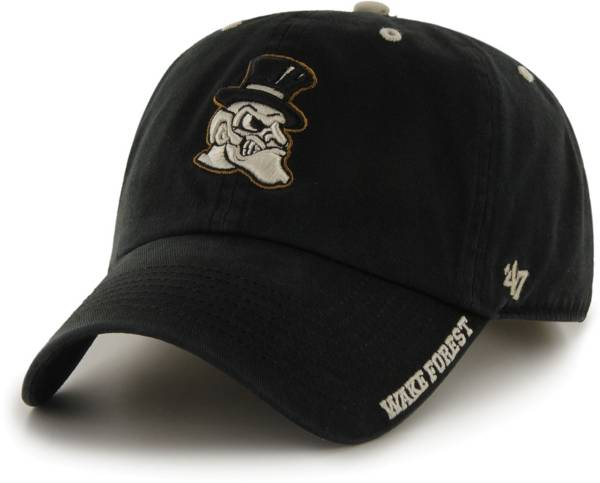 '47 Men's Wake Forest Demon Deacons Ice Clean Up Adjustable Black Hat product image