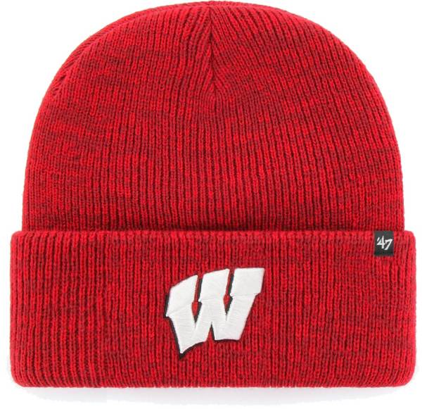 '47 Men's Wisconsin Badgers Red Brain Freeze Cuffed Knit Beanie product image