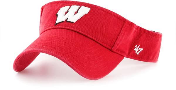 '47 Men's Wisconsin Badgers Red Clean Up Adjustable Visor product image