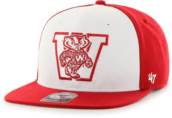 '47 Men's Wisconsin Badgers Red Sure Shot Captain Adjustable Hat product image