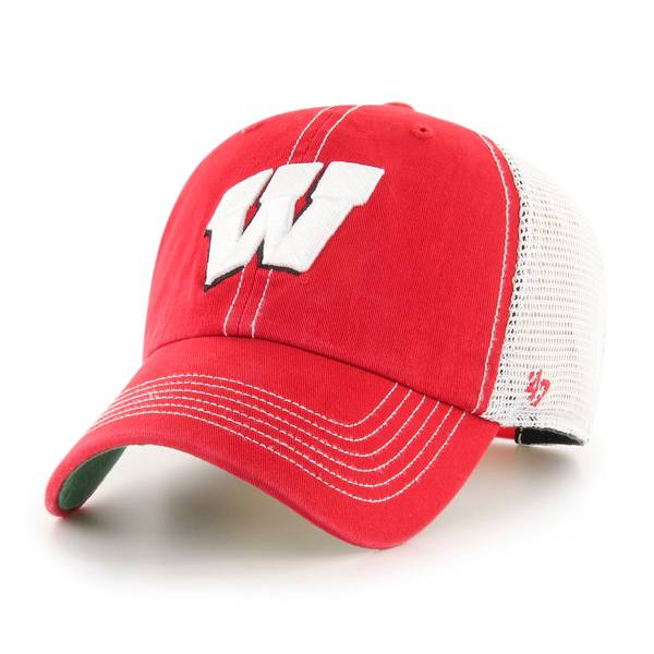 '47 Men's Wisconsin Badgers Red Trawler Clean Up Adjustable Hat product image
