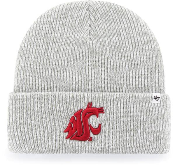 '47 Men's Washington State Cougars Grey Brain Freeze Cuffed Knit Beanie product image