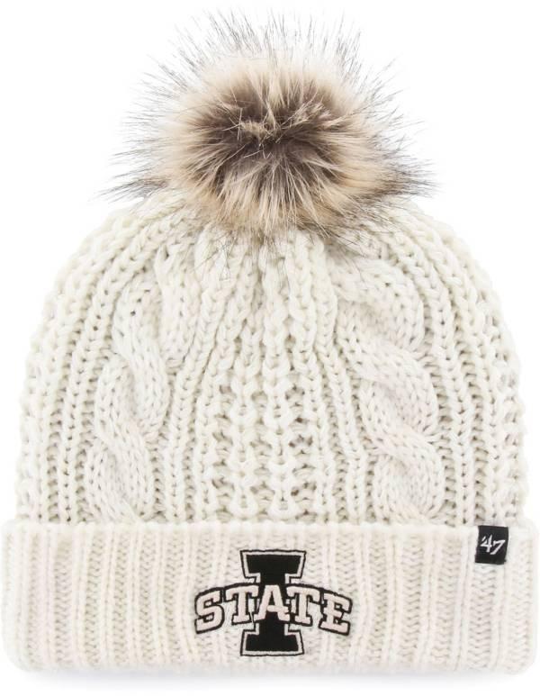 '47 Women's Iowa State Cyclones White Meeko Cuffed Knit Hat product image