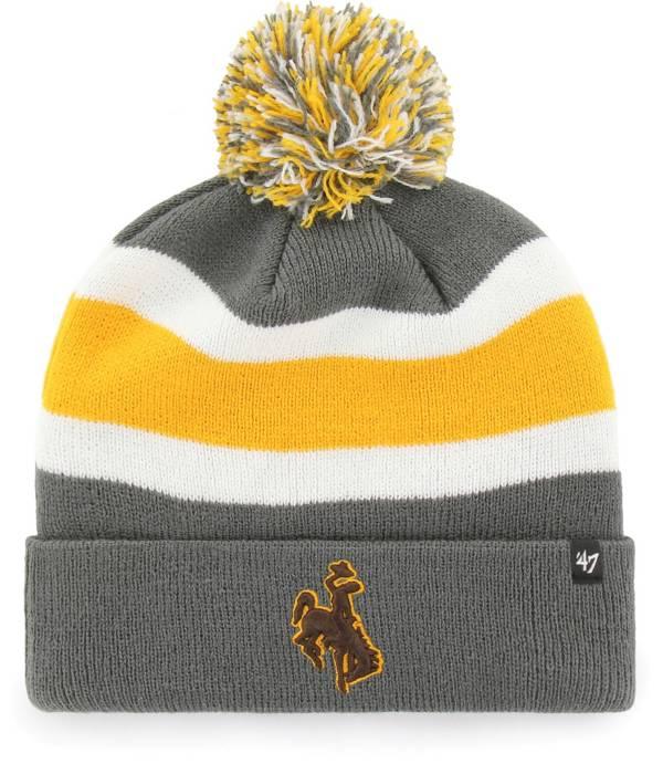 '47 Men's Wyoming Cowboys Grey Breakaway Cuffed Knit Hat product image