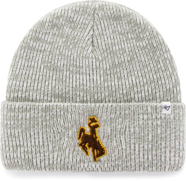 '47 Men's Wyoming Cowboys Grey Brain Freeze Cuffed Knit Beanie product image