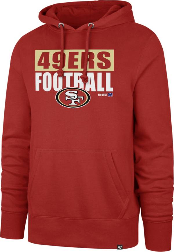 '47 Men's San Francisco 49ers Blockout Headline Red Hoodie product image