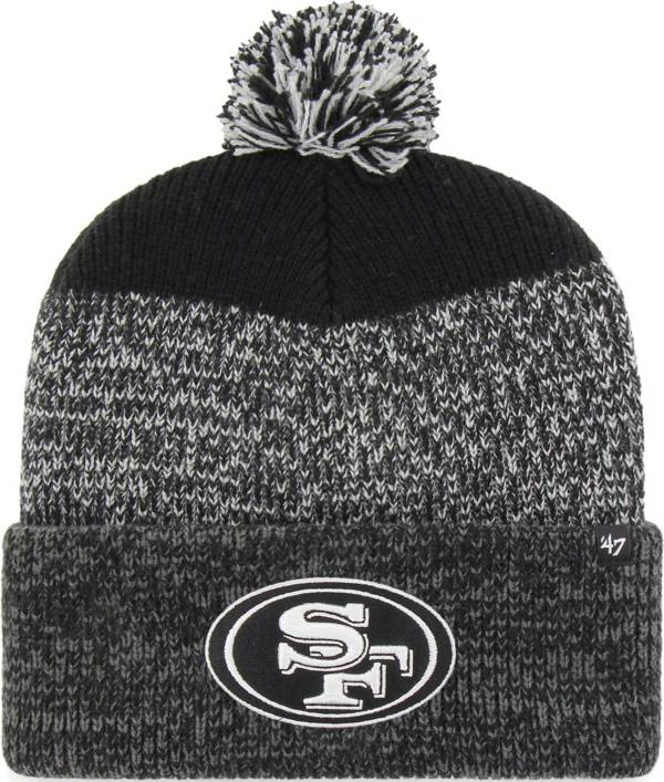 47 Men's San Francisco 49ers Static Cuffed Black Knit Hat product image