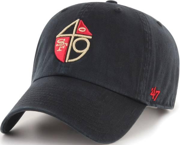 '47 Men's San Francisco 49ers Legacy Clean Up Adjustable Black Hat product image