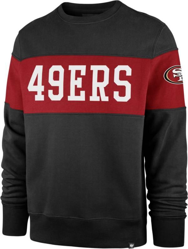 '47 Men's San Francisco 49ers Interstate Crew Black Sweatshirt product image
